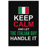 Let The Italian Guy Handle It Canvas Wall Art Portrait