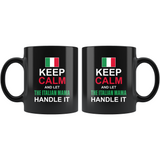 Let The Italian Mamma Handle It Black Mug 11oz