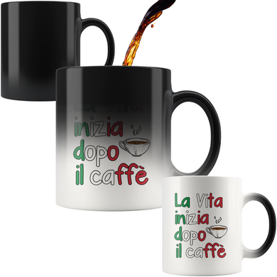 Life Begins After Coffee Color Changing Mug