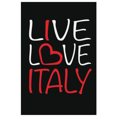 Live Love Italy Canvas Wall Art Portrait
