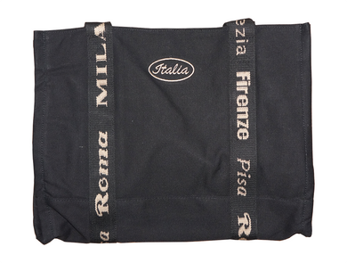 Black Heavy Duty Italian Tote Bag