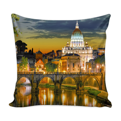 Rome Decorative Throw Pillow Set (Pillow Cover and Insert)