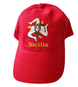 Sicilia Flag Baseball Cap Red
