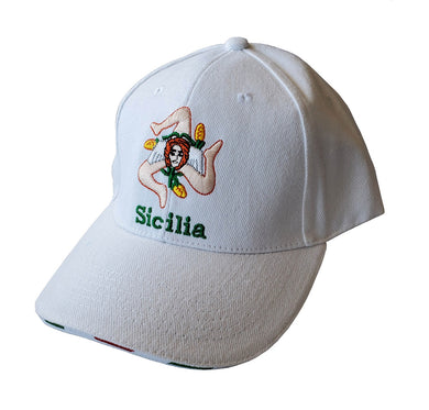 Sicilia Flag Baseball Cap White