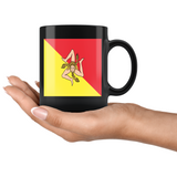 Sicilian Flag Black 11oz Mug