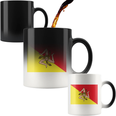 Sicilian Flag Color Changing Mug