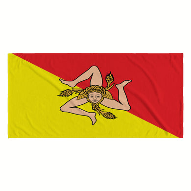 Sicilian Flag Beach Towel