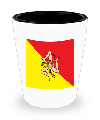 Sicilian Flag Shot Glass