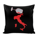 Spilled Wine Decorative Throw Pillow Set (Pillow Cover and Insert)