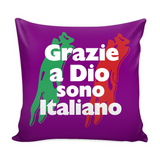 Thank God I'm Italian Decorative Throw Pillow Set (Pillow Cover and Insert)