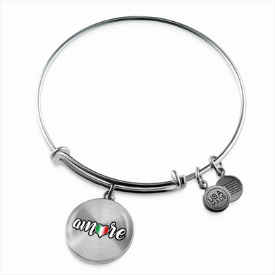 Amore with Transparent Circle Charm Bangle