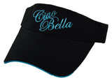 Ciao Bella Visor with Blue Embroidery
