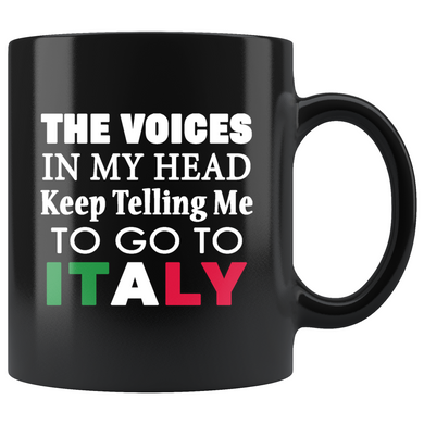 Voices in My Head 11oz Black Mug