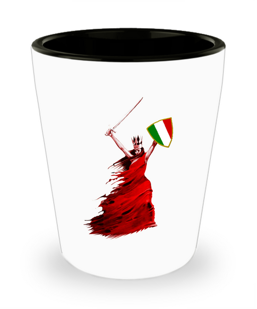 Italian Woman Warrior Shot Glass