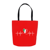 Italian Lifeline Tote Bag - Red