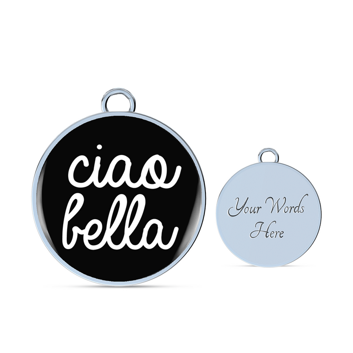 Ciao Bella With Black Circle Charm Bangle