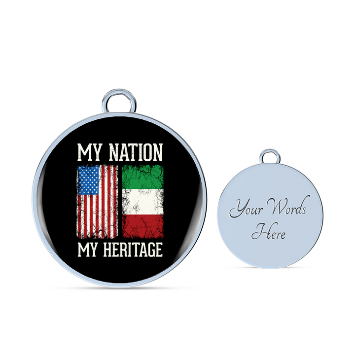 Italian My Nation My Heritage With Circle Charm Bangle