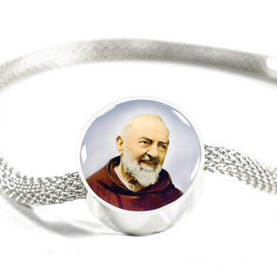 St. Pio of Pietrelcina with Circle Charm Bracelet