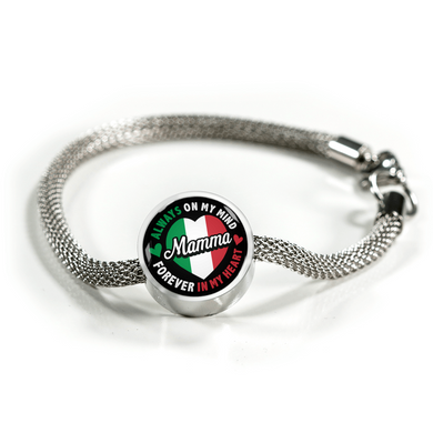 Mamma Forever In My Heart With Circle Charm Bracelet