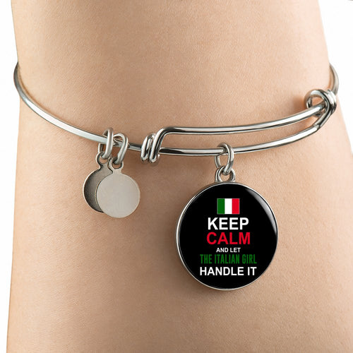 Let Italian Girl Handle It With Circle Charm Bangle