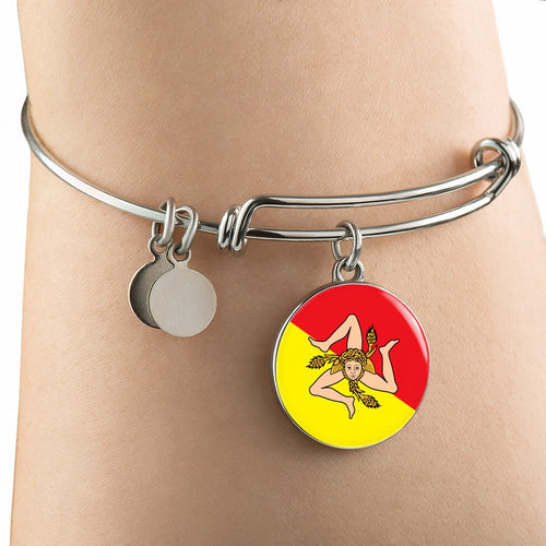Sicilian Flag With Circle Charm Bangle