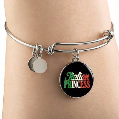 Italian Princess with Circle Charm Bangle