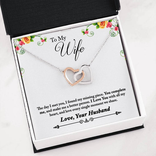 Interlocking Hearts Necklace from Husband to Wife