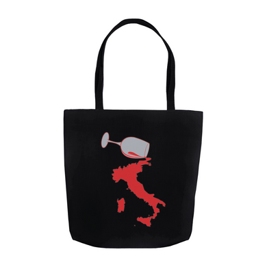 Spilled Wine II Tote Bag - Black
