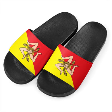 Sicilian Flag Black - Women's Slide Sandals