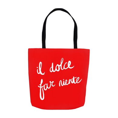 Sweetness of Doing Nothing Tote Bag - Red