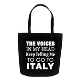 The Voices Tote Bag - Black