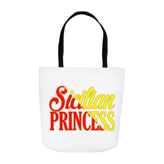 Sicilian Princess Tote Bag - White