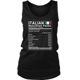 Italian Nutrition Facts Shirt