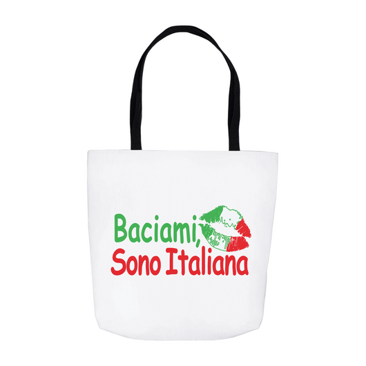 Kiss Me I'm Italian Tote Bag - White