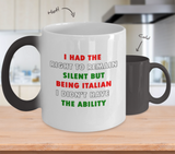 I Had the Right to Remain Silent II Color Changing Mug