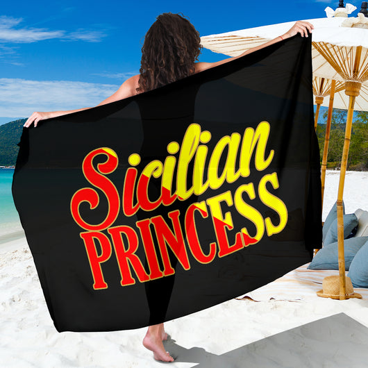 Sicilian Princess Black Sarong