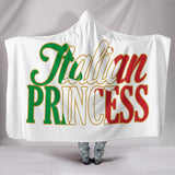 Italian Princess White Hooded Blanket