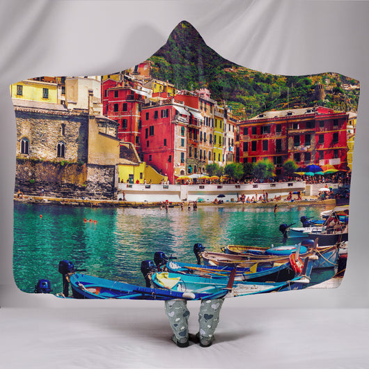 Cinque Terre Hooded Blanket