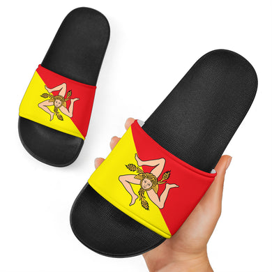 Sicilian Flag Black Slide Sandal
