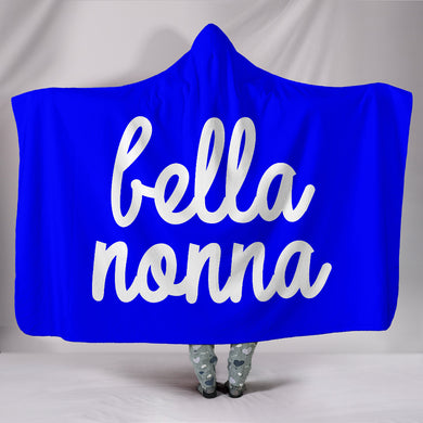 Bella Nonna Blue Hooded Blanket