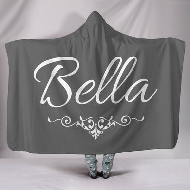 Bella Grey Hooded Blanket