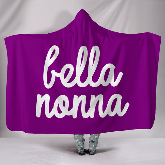 Bella Nonna Purple Hooded Blanket