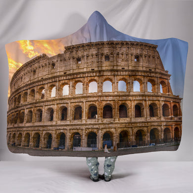 Rome Coliseum Hooded Blanket