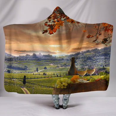 Chianti Tuscany Hooded Blanket
