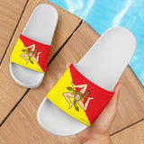 Sicilian Flag White - Women's Slide Sandal