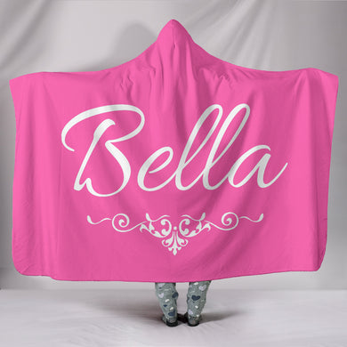 Bella Pink Hooded Blanket