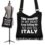 The Voices Black Boho Handbag