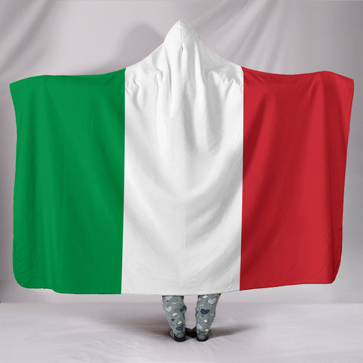 Italian Flag Hooded Blanket