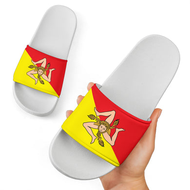 Sicilian Flag White Slide Sandal