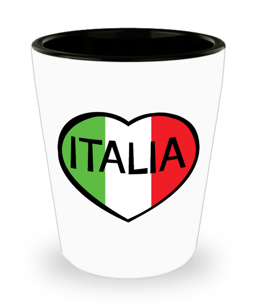 Italia Heart Shot Glass